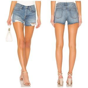 New FREE PEOPLE Distressed High Rise Jeans Shorts